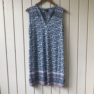 J Jill Wearever Sleeveless Paisley Print Dress
